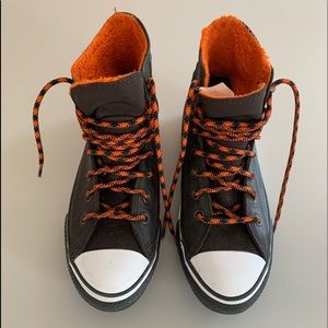 CONVERSE All Star leather high top boots/sneakers